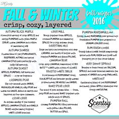 SCENTSY - SCENTS FALL/WINTER FALL/WINTER 2016 FLYER BY: Brittany Gerrity Admin Of: No-Nonsense Canadian Flyer Sharing Group On Facebook www.brittanygerrity.scentsy.ca