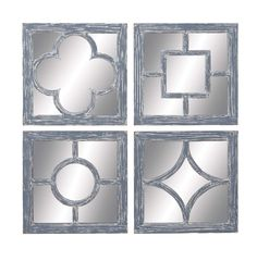 Wall Mirror Assorted Glass And Wood Construction (Set Of 4). A Classic Showpiece, This Assorted Set Of 4 Wood Wall Mirrors Adds To The Ideal Amount Of Fancy And Interest To Any Wall Of Your Home. Place It Indoors Or Outdoors In Any Traditional Or Modern Interior Set Up, Rest Assured Of Its Enchanting Beauty And Noticeable Presence. The Set Has 4 Different Wall Art Piece Made Of Super Quality Wood With Different Self Designs On It. The Antique White Color Finish Of The Frames Adds Texture And…
