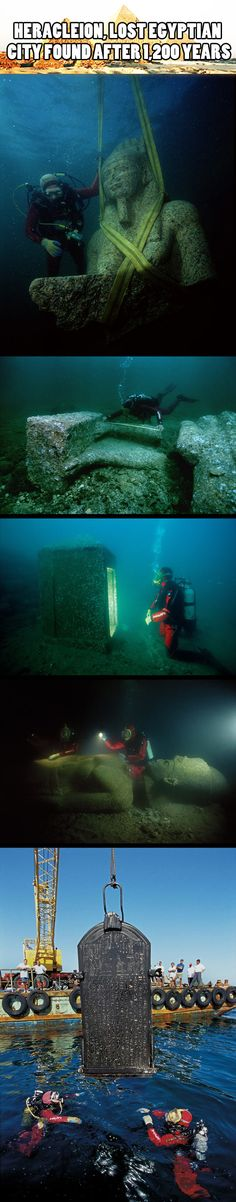 Underwater Ruins Of Alexandria Egypt Crazy Awesome Pinterest - Explorers discover ancient 1200 year old egyptian city