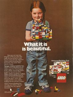 My twin daughters look exactly like the girl in this vintage Lego ad. Just as mischievous too.