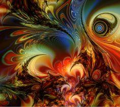 Dijital Ebru Sanatı Resimleri-   robocat58.deviantart.com