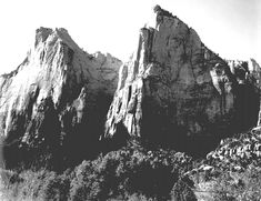 Court of the Patriarchs, Zion National Park (Utah [http://www.archives.gov/research/ansel-adams/images/aav01.jpg])