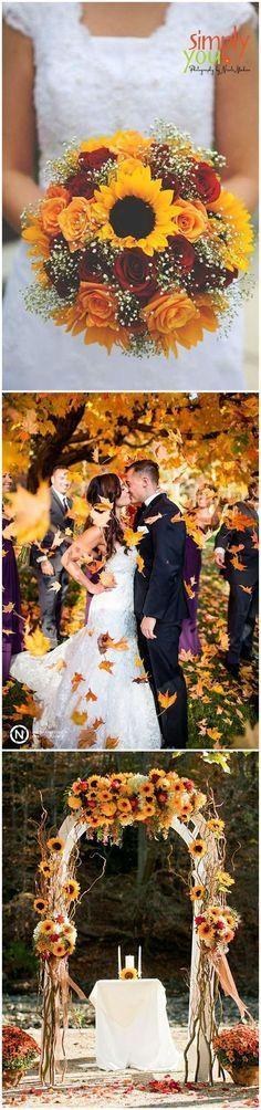 New Ideas October Wedding Colors Sunflowers October Wedding, Fall Wedding, Rustic Wedding, Our Wedding, Dream Wedding, Trendy Wedding, Autumn Weddings, Wedding Night, Luxury Wedding