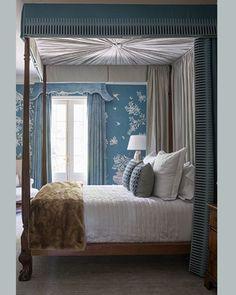Last night I slept for 12 hours. I wonder how long I would sleep if I had a bed like this! #phoebehowarddecorator #graciewallpaper #hollandandsherry #furblanket #wallpaper #nancycorzine #furniture #bed #pillows #lamp #antiques #potd #design #designdetails #homedecor #homedesign #interiors #interiordesign #interiordesigner #designdetails #customdesign #instagood #luxury #mood #sophisticated #curbed #keepitpretty