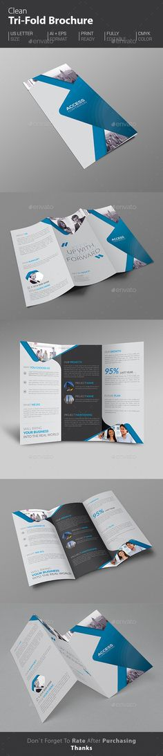 Inspire Trifold Brochure Indesign Template  Indesign Templates