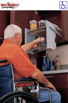 Rev-a-shelf // Handicap accessibility/ Lowe's sells these special order at a reasonable price