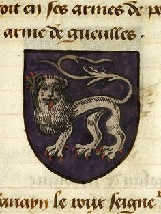 Family coat of arms an early roll of arms belonging to for Table ronde 52 chimay
