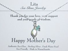Pearls of wisdom and authentic sea glass by LitaSeaGlassJewelry, $39.00