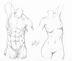 Random anatomy sketches 9 by RV1994.deviantart.com on @deviantART