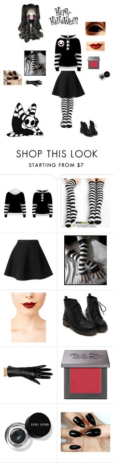 """""""DIY Halloween Costume: The Marionette/Puppet from Five Nights at Freddy's"""" by nerdbucket ❤ liked on Polyvore featuring Cosgirl, MSGM, Jeffree Star, Urban Decay, Bobbi Brown Cosmetics and Freddy"""