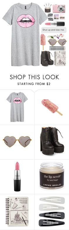 """Shut up and kiss me."" by renke ❤ liked on Polyvore featuring Wildfox, MAC Cosmetics, Sara Happ, Old Navy, Polaroid and Forever 21"