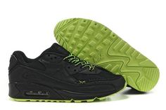 http://www.airgriffeymax.com/nike-air-max-90-black-mean-green-p-326.html Only$72.96 #NIKE AIR MAX 90 BLACK MEAN GREEN #Free #Shipping!