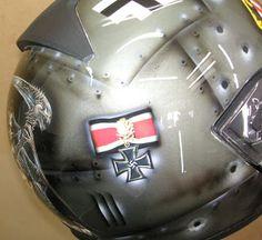 Moto Helmet Art Design #162 ~ Hand Painted Helmets - Design your own today..!!