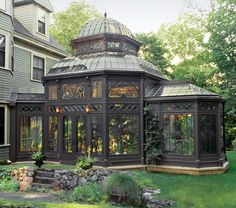 Tanglewood Conservatories' Historic Replicas  Garden Design Calimesa, CA.....This is gorgeous...a beautiful place to work and plan.