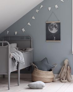 Lots of grey for a kids room
