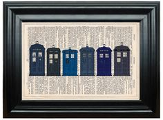 Doctor Who Tardis dictionary art print book page antique vintage dictionary print wall art, Victorian decor, Time Travel by PeregrinVintage on Etsy https://www.etsy.com/listing/159197325/doctor-who-tardis-dictionary-art-print