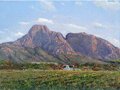 Oil Painting - Boschendal Estate by Errol Norbury African Artwork, African Art Paintings, Original Paintings, South African Artists, Artist Gallery, Art Portfolio, Artist Painting, Online Art, Landscape Paintings