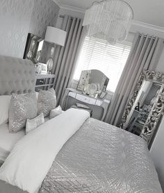 The Fundamentals Of Silver Bedroom Decor Ideas Grey Revealed 44 Warm Bedroom, Home Bedroom, Room Decor Bedroom, Living Room Decor, Bedroom Storage, Bedroom Ideas, Bedroom Inspo, Small Grey Bedroom, Bed Room