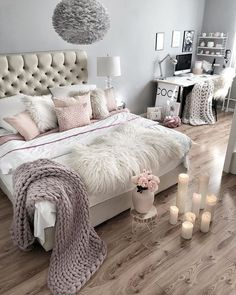 This is a Bedroom Interior Design Ideas. House is a private bedroom and is usually hidden from our guests. However, it is important to her, not only for comfort but also style. Much of our bedroom … Bedroom Ideas For Small Rooms Women, Small Room Bedroom, Home Decor Bedroom, Bedroom Modern, Diy Bedroom, Bed Room, Dorm Room, Glam Bedroom, Teen Bedroom