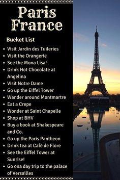 paris bucketlist