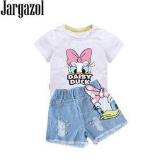Smarter Shopping, Better Living! Girls Summer Outfits, Little Girl Outfits, Toddler Girl Outfits, Toddler Girls, Fall Outfits, Casual Outfits, Fashion Outfits, T Shirt And Shorts, Denim Shorts