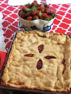 Strawberry Rhubarb Slab Pie Recipe on Yummly