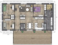LATO 189 - Kannustalo House Plans, Floor Plans, Flooring, Interior Design, Architecture, Sims 4, Home, Projects, Ideas