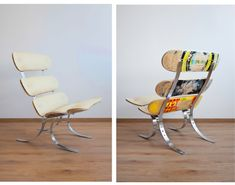 Upcycling skateswing skateboard lounge chair: living room by colorform Skateboard Decor, Skateboard Furniture, Skateboard Swing, Ikea Lounge, Lounge Chair, Repurposed Furniture, Cool Furniture, Furniture Design, Furniture Cleaning