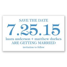 Bold Date - Save the Date Magnet