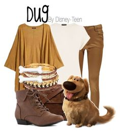 Dug by disney-teen on Polyvore featuring polyvore, fashion, style, Warehouse, Boohoo, VIPARO and Clips