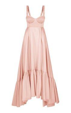Persephone Embellished Broderie Anglaise Cotton Midi Dress by Markarian | Moda Operandi