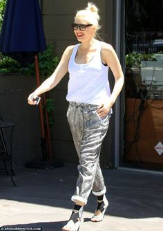 Happy mom: Gwen Stefani spotted out and about in West Hollywood on Thursday...