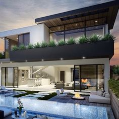 ✨Modern Mansion✨ ▬▬▬▬▬▬▬▬▬▬▬▬▬▬▬▬▬▬▬▬ ✳️️Tag someone who would love this style! ▬▬▬▬▬▬▬▬▬▬▬▬▬▬▬▬▬▬▬▬ 📷 via: All credit goes to the photographer/owner; Modern Exterior, Interior And Exterior, Exterior Design, Modern House Design, Home Design, Design Ideas, Modern Mansion, Facade House, Modern Architecture