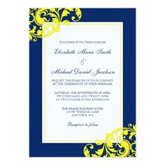 Navy And Fuschia Wedding Invitation Ideas Sara Matt S Invitations I Want This Pinterest