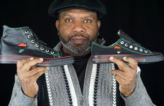 Black Entrepreneur Launches Historic First African Pride Sneaker in the History of America – Atlanta-based entrepreneur, Tariq Edmondson, generates a worldwide buzz with his custom-designed sneakers – African Men, African Fashion, Ankara Fashion, African Attire, African Style, African Dress, My Black, Black Men, Black Style