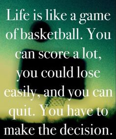 Life is like a basketball game. you never what your gonna get! Basketball IS life! Basketball Motivation, Basketball Is Life, Basketball Skills, Sports Basketball, Basketball Sayings, Basketball Stuff, Basketball Season, Basketball Problems, Cheer Sayings