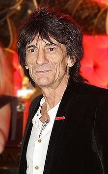 This is RON WOOD in 2011 / Sydney Australia and he could be Keith Richards Brother. He started out playing with Rod Stewart and the joined THE STONES in the Mid 70's, when Mick Taylor had enough.