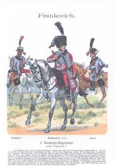 Band XIII #8.- Frankreich. 3. Hus. Rgt. unter Napoleon I.