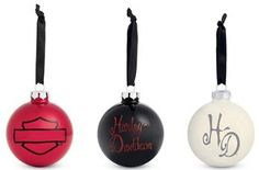 Harley-Davidson® Fun Ornament Set!!!