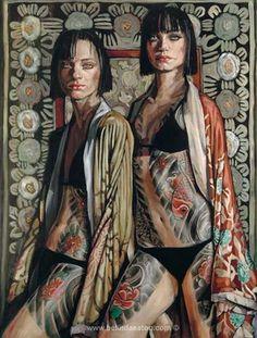 'Kimono Girls' Belinda Eaton