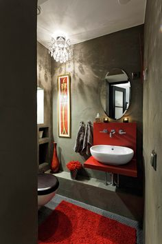 loft @ Asuntomessublogit Bathroom Toilets, Bathrooms, Double Vanity, Loft, Mirror, Interior, Home Decor, Toilets, Decoration Home