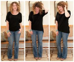 she makes jeans and a basic black shirt look pretty darn good!