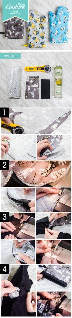 PAS À PAS: Mitaine de four! #DIY #cuisine #cooking #sewing #couture #projet