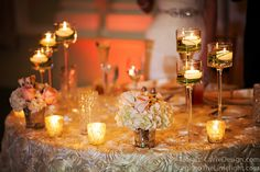 Sweetheart table all in glow