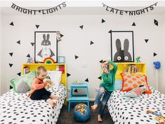 habitaciones infantiles: decoración de paredes con pintura
