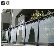 aluminum glass railing balcony grill for house apartment - Modern Balcony Glass Design, Glass Balcony Railing, Balcony Grill Design, Indoor Railing, Balcony Railing Design, Staircase Railing Design, Modern Stair Railing, Modern Balcony, Casa Patio