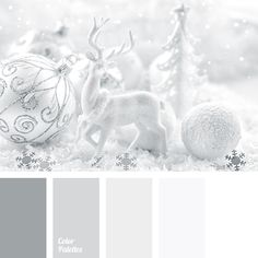 gentle shades of silver, gray and white, New Year colour palette, New Year colours, New Year palette, pale silver colour, palette for a New Year, shades of silver