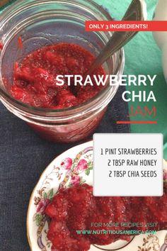 Strawberry Chia Refrigerator Jam