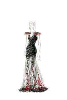 dress - mockingjay - girl on fire - katniss