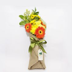 Happy Tangerine- A vivid bouquet that radiates energy and couldn't help but make people who see it smile.